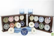 Sale 8546 - Lot 237 - Wedgewood Dish Collection In Racks Together With Other Wedgewood Incl Olympia Glass Mugs