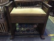 Sale 8637 - Lot 1091 - Timber Lift Top Piano Stool