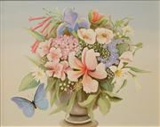 Sale 8642A - Lot 5006 - Sue Nagel (1942 - ) - Vase of Favourite Flowers 39.5 x 50cm