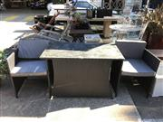 Sale 8740 - Lot 1244 - Baron & Louis Three Piece Outdoor Lounge Suite incl. Pair of Armchairs & Occasional Table