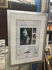 Sale 8707 - Lot 2072 - Americas Cup Framed Poster, Numbered 208/500