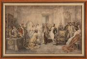 Sale 8873A - Lot 19 - After V De Paredes, chromolithographic print of Napoleon and Josephine in the bridal chambers