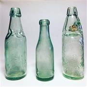 Sale 8878T - Lot 36 - Joseph Wilkinson, Gateshead and Sunderland Unusal Patent Lemonade Cod-Type Bottle Sealed with Ledge-Mouth Internal Stopper & Two Oth...