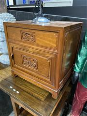 Sale 8876 - Lot 1012 - Pair of Rosewood Bedside Chests