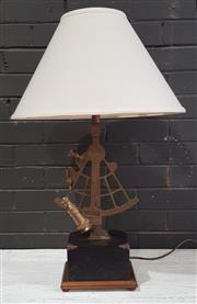 Sale 8956 - Lot 1026 - Brass Sextant Themed Table Lamp (H:81cm)