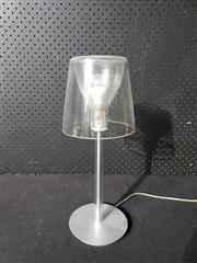 Sale 9026 - Lot 1071 - Modern Translucent Glass Shade Table Lamp with Metal Base (H41cm) -