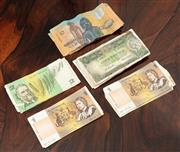 Sale 9070H - Lot 63 - A collection of Australian notes including 17 x one dollar bills, 3 x two dollar, 8 x ten dollar and 5 x one Australian pound