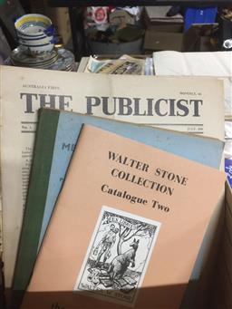 Sale 9152 - Lot 2412 - Box of Ephemera incl. Messrs Burge-Lopez & Craft Booksellers Catalogue No. 10; Walter Stone Collection Catalogue No. 2; The Publici...