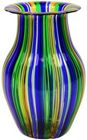 Sale 8065 - Lot 66 - Murano A Canne Glass Vase by Gabriele Urban