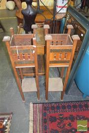 Sale 8331 - Lot 1370 - Pair of Federation Maple Plants Stands