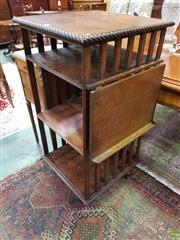 Sale 8634 - Lot 1056 - Edwardian Oak Revolving Bookcase, of three tiers & with reading slope