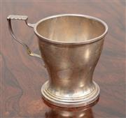Sale 9070H - Lot 64 - A silver christening mug bearing inscription To baby Ian from Aunty and Uncle  Height 8cm