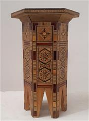 Sale 9071 - Lot 1034 - Inlaid Occasional Table (h:39 x w:23cm)