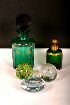 Sale 3650 - Lot 30F - A VICTORIAN GREEN GLASS SALTS BOTTLE