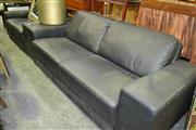 Sale 8093 - Lot 1353 - Black Leather 2 Piece Lounge