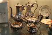 Sale 8276 - Lot 96 - Silver Plated 5-Piece Tea & Coffee Setting