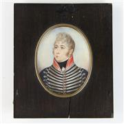 Sale 8399 - Lot 79 - Miniature Portrait of Captain James Hammett