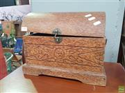 Sale 8566 - Lot 1196 - Coconut Wood Jewellery Chest