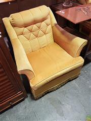 Sale 8566 - Lot 1238 - Pair of Vintage Buttoned Back Lounge Chairs