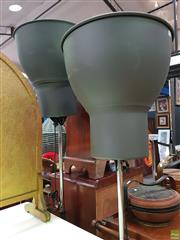 Sale 8589 - Lot 1050 - Pair of Industrial Style Standard Lamps