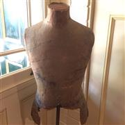 Sale 8878T - Lot 38 - Vintage Dress Makers Mannequin of a Male Torso featuring Adjustable Brass Base Height - 126cm