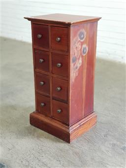 Sale 9166 - Lot 1065 - Timber chest of eight drawers (h:93 x w:46 x d:29cm)