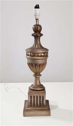 Sale 9218 - Lot 1088 - Carved timber trophy form table lamp (h63cm)