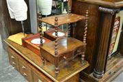 Sale 7987A - Lot 1152 - Mahogany Canterbury of 2 Tiers w Single Drawer