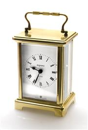 Sale 8202A - Lot 15 - An early French eight day brass carriage clock by 'Duverdrey & Bloquel ',  nine jewels, H 11.5cm