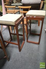 Sale 8260 - Lot 1033 - Pair of Chiswell Teak Framed Barstools