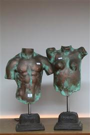 Sale 8327 - Lot 57 - Male & Female Composite Torsos