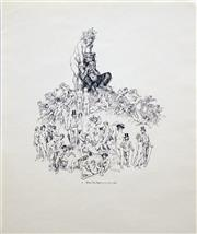 Sale 8565A - Lot 5036 - Norman Lindsay (1879 - 1969) (6 works) - Portfolio of Pen Drawings (for the The Daily Mirror, 1969) 34 x 41.5cm
