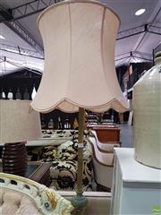 Sale 8580 - Lot 1004 - Brass Standard Lamp with Shade