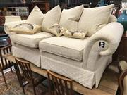 Sale 8942 - Lot 1020 - Fabric Upholstered Two Seater Lounge (H: 67, W: 195, D: 86cm)