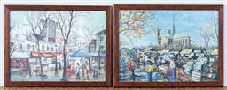 Sale 9165H - Lot 45 - Two framed prints of the Daily life in timber frames. Frame size 29.5x38cm