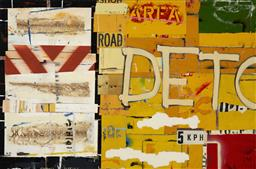 Sale 9187JM - Lot 5017 - MICHAEL JEFFERY (1965 - ) Sidetracked, 2012 mixed media on canvas 121 x 183 cm signed, titled and dated verso