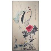 Sale 8258 - Lot 22 - Jiang Shibai Signature Watercolour Scroll