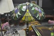 Sale 8418 - Lot 1027 - Leadlight Standard Lamp