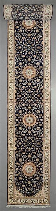 Sale 8539C - Lot 70 - Indo Persian Nain Silk Inlay Runner 793cm x 82cm