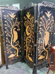 Sale 8566 - Lot 1140 - Oriental Dressing Screen (180 x 180)