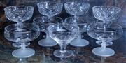 Sale 8568A - Lot 166 - Four Webb & Corbett champagne bowls, together with assorted sundae dishes