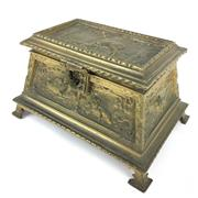 Sale 8607R - Lot 7 - Gilt Bronze Jewellery Casket with Original Lining (W: 20cm)