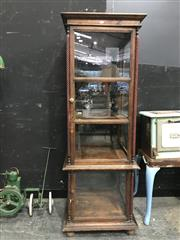 Sale 8787 - Lot 1014 - Indonesian Style Glass Display Cabinet With Key