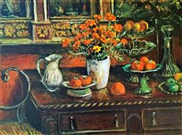 Sale 9129A - Lot 5013 - Margaret Olley (1923 - 2011) - Marigolds and Fruits, 2009 78.5 x 108 cm