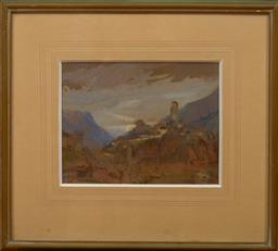 Sale 9150J - Lot 66 - HANS HEYSEN (1877 - 1968) Vista mixed media 22 x 28 cm signed lower left