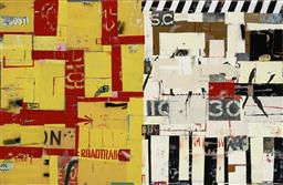 Sale 9178 - Lot 539 - MICHAEL JEFFERY (1965 - ) Law of the Jungle mixed media on canvas 170 x 260 cm signed middle right