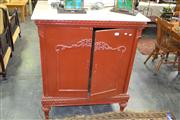 Sale 7981A - Lot 1066 - Painted Marble Top Chest w 2 Doors (152)
