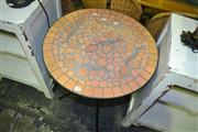 Sale 8093 - Lot 1481 - Mosaic Top Outdoor Table