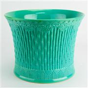 Sale 8221 - Lot 22 - Chien Lung Marked Turquoise Glaze Brush Pot