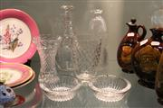 Sale 8276 - Lot 83 - Val St Lambert Pair of Dishes with Other Crystal Wares